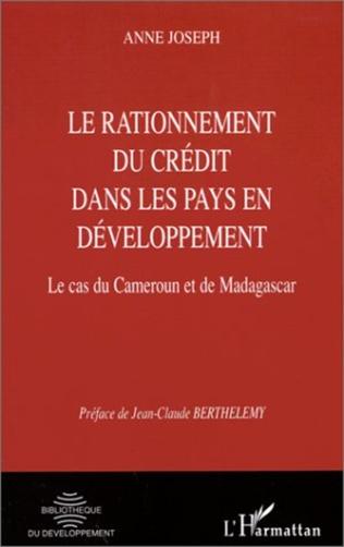 Couverture RATIONNEMENT DU CRéDIT DANS LES PAYS EN DéVELOPPEMENT