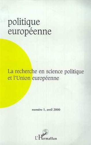 Couverture LA RECHERCHE EN SCIENCE POLITIQUE ET L'UNION EUROPEENNE