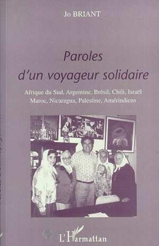 Couverture PAROLES D'UN VOYAGEUR SOLIDAIRE