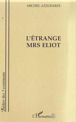 Couverture L'ETRANGE MRS ELIOT