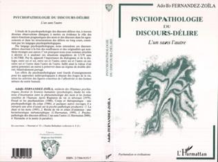 Couverture PSYCHOPATHOLOGIE DU DISCOURS-DELIRE