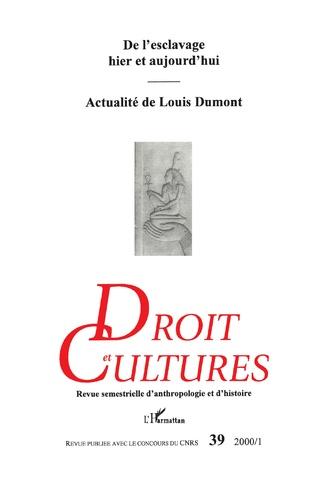 Couverture DROIT ET CULTURES N° 39