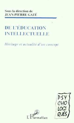 Couverture EDUCATION (DE L') INTELLECTUELLE