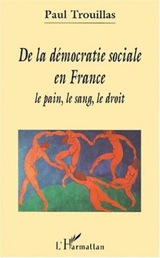 Couverture DE LA DÉMOCRATIE SOCIALE EN France