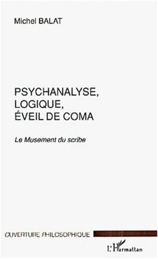 Couverture PSYCHANALYSE, LOGIQUE, ÉVEIL DE COMA
