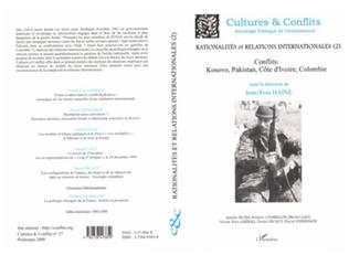 Couverture RATIONALITÉ ET RELATIONS INTERNATIONALES (2)
