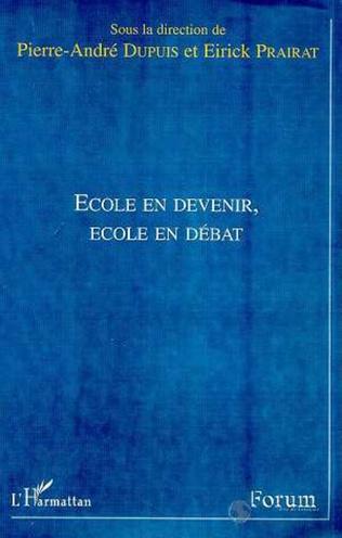Couverture ÉCOLE EN DEVENIR, ÉCOLE EN DÉBAT