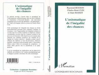 Couverture L'AXIOMATIQUE DE L'INÉGALITÉ DES CHANCES