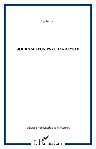 Couverture JOURNAL D'UN PSYCHANALYSTE