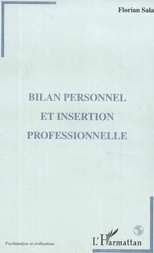Couverture BILAN PERSONNEL ET INSERTION PROFESSIONNELLE