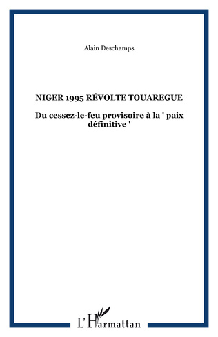 Couverture NIGER 1995 RéVOLTE TOUAREGUE