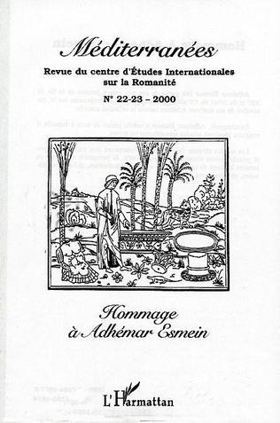 Couverture HOMMAGE À ADHÉMAR ESMEIN (n°22-23)