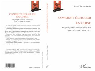 Couverture COMMENT ÉCHOUER EN CHINE
