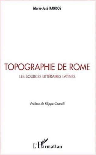 Couverture TOPOGRAPHIE DE ROME
