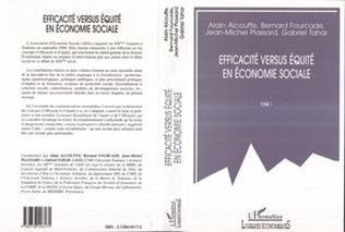 Couverture EFFICACITÉ VERSUS ÉQUITÉ EN ÉCONOMIE SOCIALE