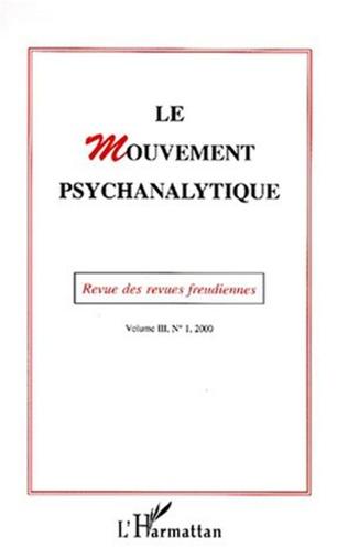 Couverture Le mouvement psychanalytique Vol. III, 1