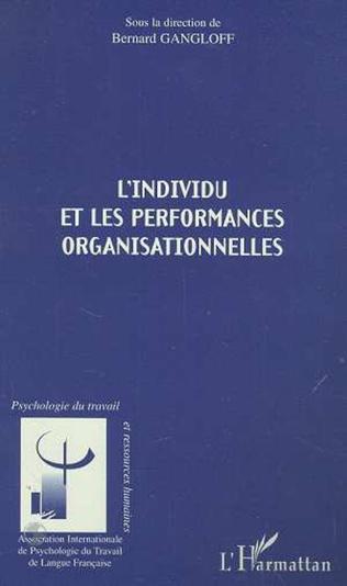Couverture L'INDIVIDU ET LES PERFORMANCES ORGANISATIONNELLES