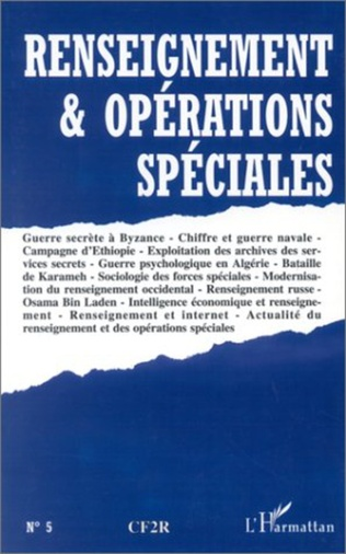 Couverture RENSEIGNEMENT ET OPERATIONS SPECIALES N°5