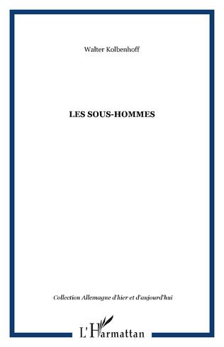 Couverture LES SOUS-HOMMES
