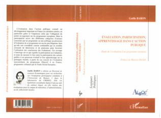 Couverture ÉVALUATION, PARTICIPATION, APPRENTISSAGE DANS L'ACTION PUBLIQUE