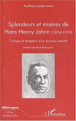 Couverture SPLENDEURS ET MISÈRES DE HANS HENNY JAHNN (1894-1959)