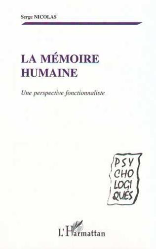 Couverture LA MÉMOIRE HUMAINE