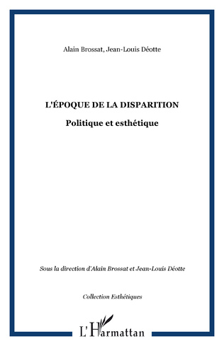 Couverture L'ÉPOQUE DE LA DISPARITION