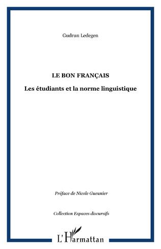 Couverture LE BON FRANÇAIS