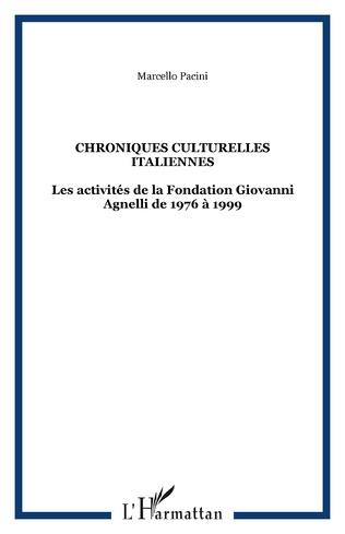 Couverture CHRONIQUES CULTURELLES ITALIENNES