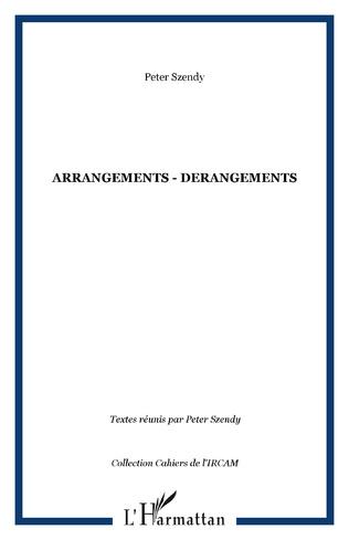 Couverture ARRANGEMENTS - DERANGEMENTS