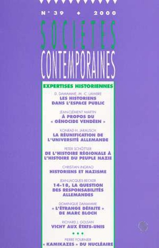 Couverture Expertise historienne