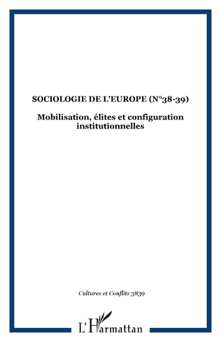 Couverture SOCIOLOGIE DE L'EUROPE (n°38-39)