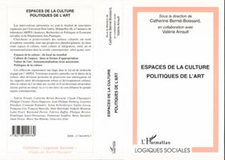 Couverture ESPACES DE LA CULTURE POLITIQUE DE L'ART