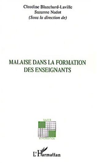Couverture MALAISE DANS LA FORMATION DES ENSEIGNANTS