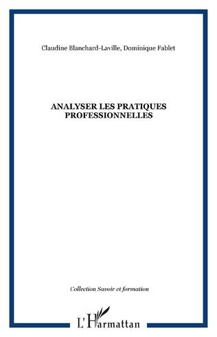 Couverture Analyser les pratiques professionnelles