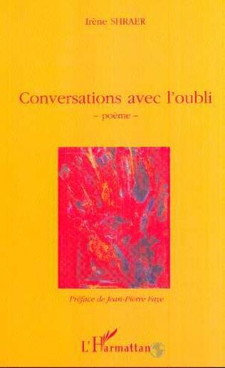 Couverture CONVERSATIONS AVEC L'OUBLI