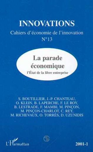 Couverture Parade économique