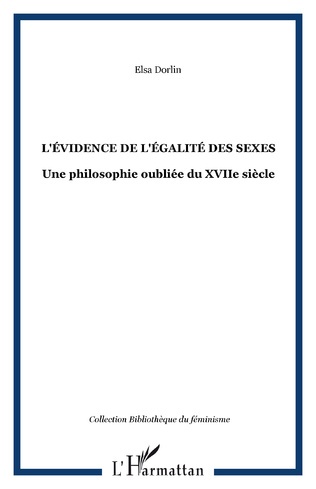 Couverture L'ÉVIDENCE DE L'ÉGALITÉ DES SEXES