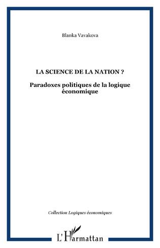 Couverture LA SCIENCE DE LA NATION ?