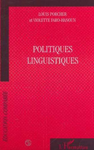 Couverture POLITIQUES LINGUISTIQUES