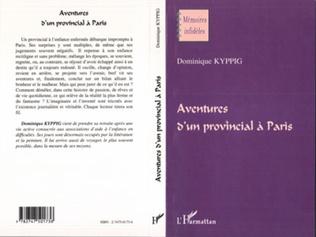 Couverture AVENTURES D'UN PROVINCIAL A PARIS