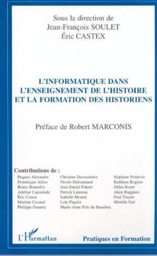 Couverture L'informatique dans l'enseignement de l'histoire et la formation des historiens