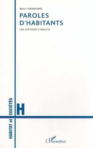 Couverture PAROLES D'HABITANTS