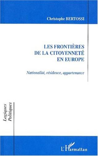 Couverture LES FRONTIÈRES DE LA CITOYENNETÉ EN EUROPE