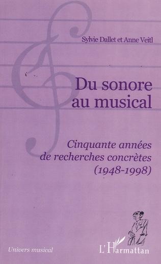 Couverture DU SONORE AU MUSICAL