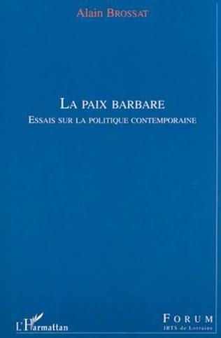 Couverture LA PAIX BARBARE