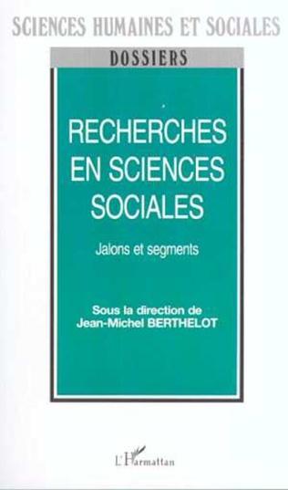 Couverture RECHERCHES EN SCIENCES SOCIALES