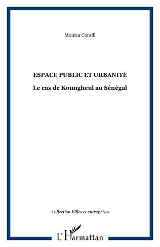 Couverture ESPACE PUBLIC ET URBANITÉ