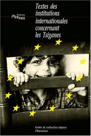 Couverture TEXTES DES INSTITUTIONS INTERNATIONALES CONCERNANT LES TSIGANE