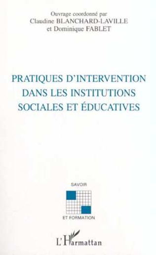 Couverture Intervention et formation intra-institutionnelle dans le champ socio- éducatif